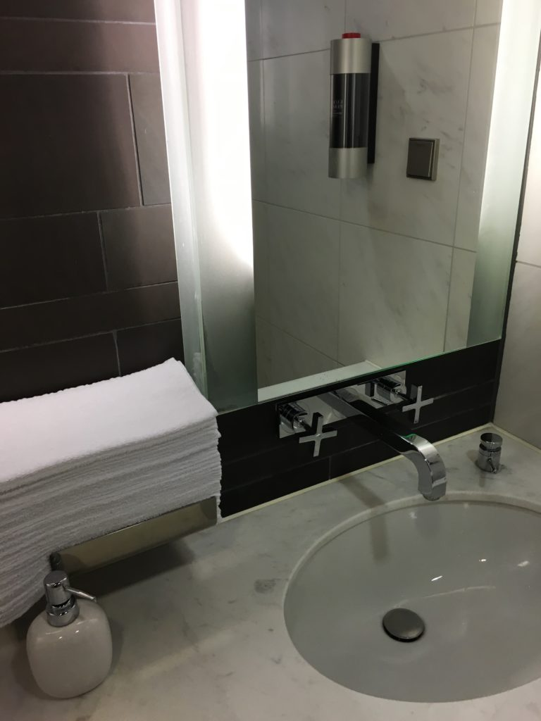 Sink at the shower room.